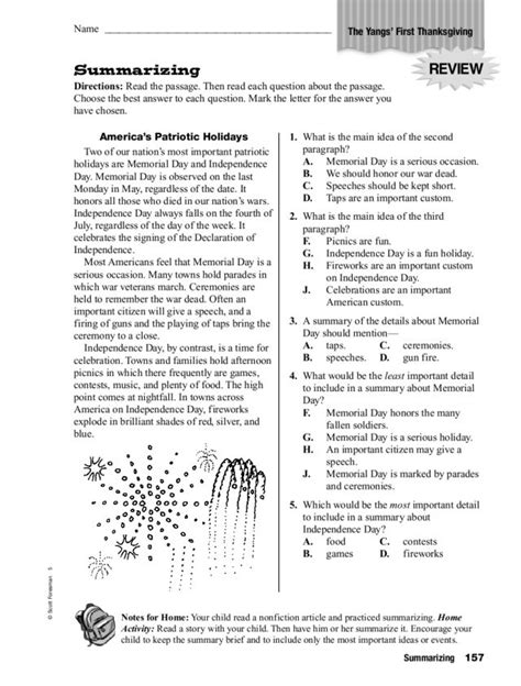 summarizing worksheet 2nd grade the best worksheets image