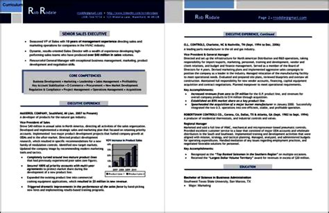 Executive Resume Sles Free by Sales Executive Resume Template Free Sles Exles
