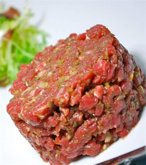cuisine mongole recettes photo le steak tartare est une recette traditionnelle