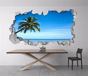 Tropical Beach 3D Wall - Moonwallstickers com
