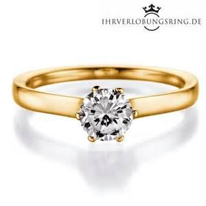 verlobungsring gold mit diamant solitär verlobungsring royal by rivoir gelbgold in 14 karat
