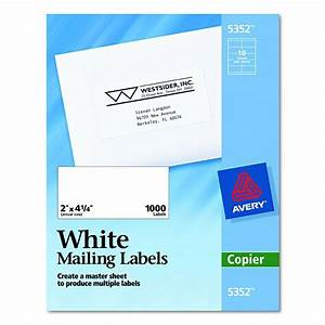 avery dennison easy peel white address label cpy 138x2 With avery 2x4 address labels