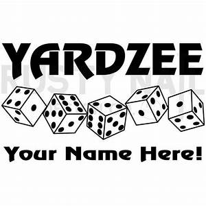 Personalized Yardzee Decal With Dice  Bucket Decal
