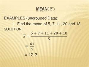 numerical method in statistics (MEAN AND MEDIAN)
