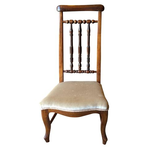 antique 19th century upholstered prayer chair for sale at