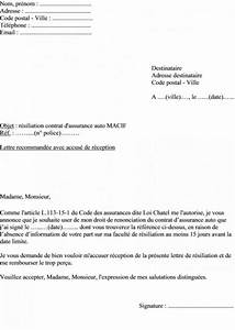 Remboursement Assurance Emprunteur Lettre Type : lettre r siliation type ~ Gottalentnigeria.com Avis de Voitures