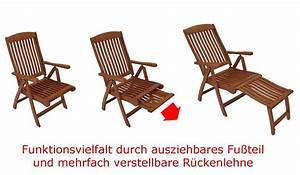 Gartenstuhl Mit Fußteil : funktions klappsessel mit fussteil deckchair maracaibo ~ Lateststills.com Haus und Dekorationen