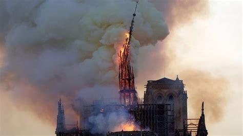 notre dame massive fire ravages paris cathedral bbc news