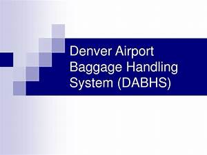 Bae Automated Systems A Denver International Airport