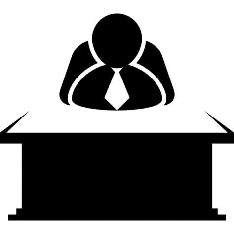 icone de bureau chef assis derrière un bureau télécharger icons gratuitement