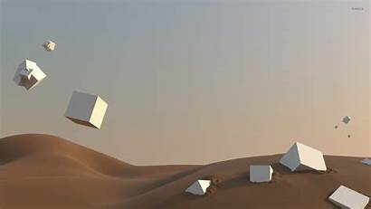 Floating Cubes Desert Cube Wallpapers Sand