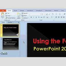 How To Format Text With Powerpoint 2010 Format Painter