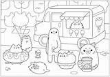 Pusheen Coloring Ice Cream Colorear Doodle Colorare Doodling Glace Worksheets Marchand Disegni Kolorowanki Worksheet Coloriage Adult Kolorowanka Printable Drawing Dibujos sketch template