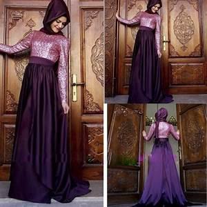aliexpresscom buy fashion muslim purple long bridesmaid With muslim wedding bridesmaid dresses