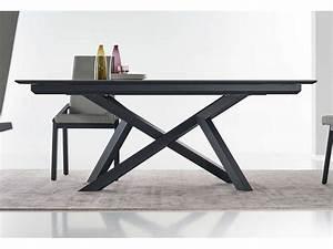 Table Pied Central Extensible : table extensible c ramique pieds m tal st junien ~ Teatrodelosmanantiales.com Idées de Décoration