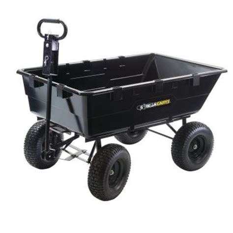gorilla carts 1 200 lb heavy duty poly dump cart