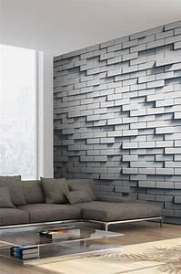 Mur Effet Brique : papier peint mur de briques effet 3d e papier ~ Melissatoandfro.com Idées de Décoration
