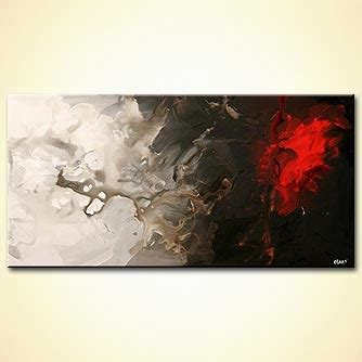 Abstract Black Background Painting by Buy Spot On Black And White Background 5322