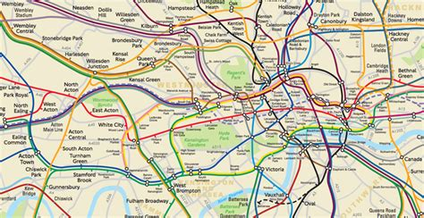 tfl  secretly   geographically accurate tube map