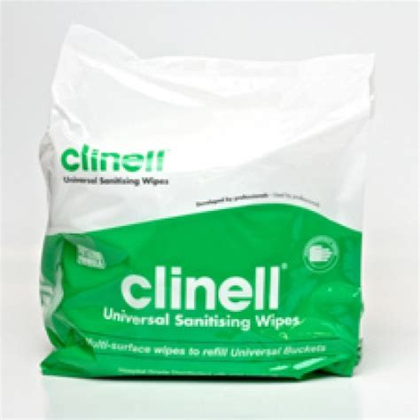 Clinell Universal Sanitising Wipes Hospital Grade 225 Refill