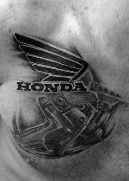 40 Honda Tattoo Ideas For Men - Automotive Designs
