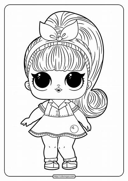 Lol Coloring Printable Doll Dolls Drawing