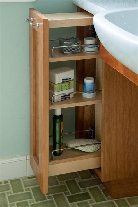 Pullout Bathroom Storage Ideas For A Clutterfree