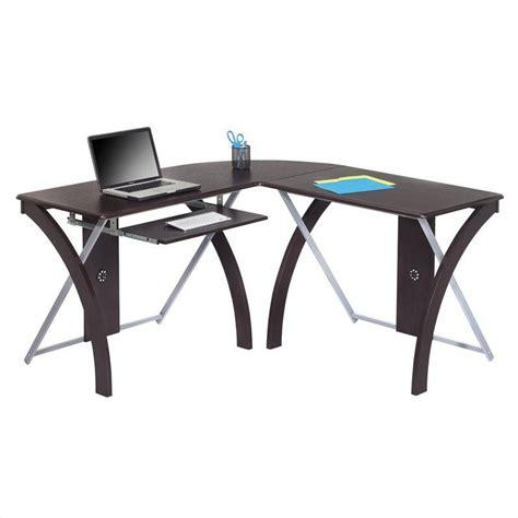 l shaped desk in espresso l shaped computer desk in espresso xt82l