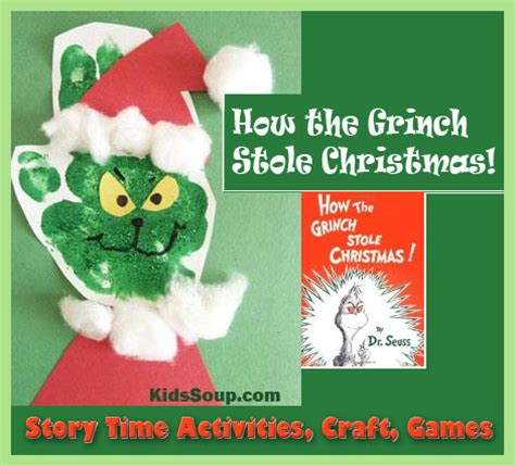 how the grinch stole christmas story time and craft