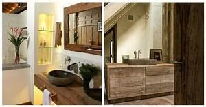 salle de bain en bois en plus de 50 idees With meuble salle de bain bois rustique