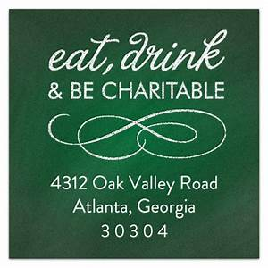 chalkboard charity green address labels paperstyle With charity address labels