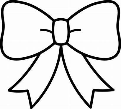 Bow Clip Coloring Middle Sweetclipart