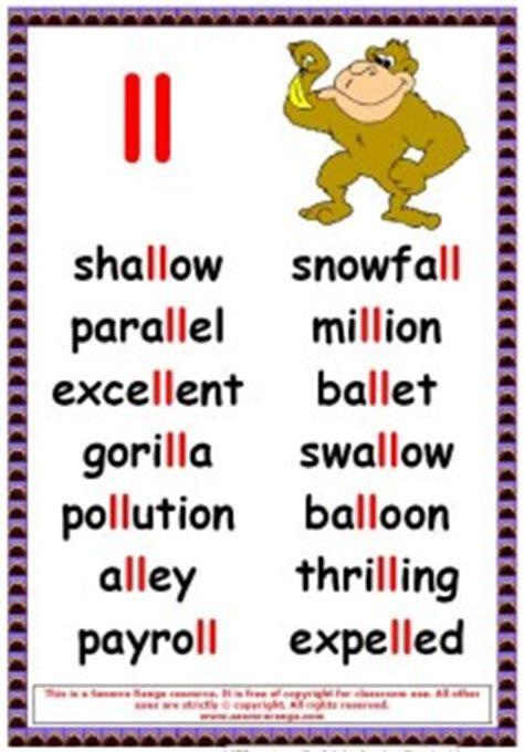 phonics poster ll words 3 seomra ranga