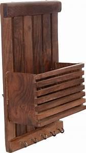 Porte Clé Mural Bois : bande de suspension murale en bois de lettre et porte cl s marron jg006 cuisine ~ Nature-et-papiers.com Idées de Décoration