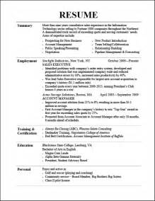 Really Resume Templates Effective Resume Sles