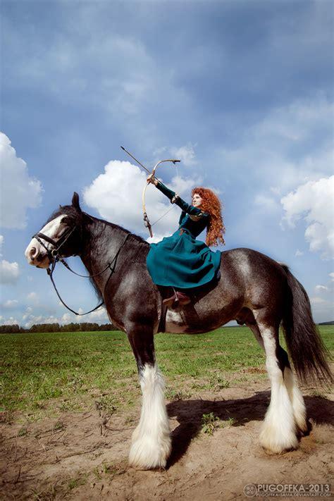 brave merida angus cosplay deviantart greatqueenlina horse pixar disney clydesdale favourites