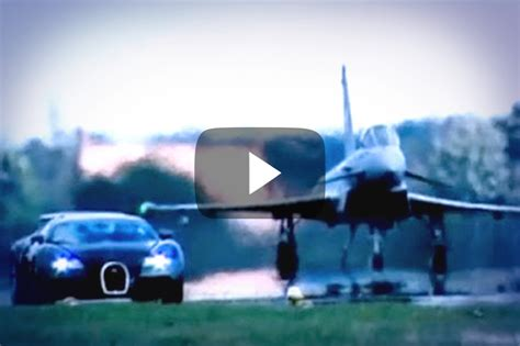 Bugati Vs Plane what happens when you race a supercar and a fighter jet