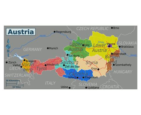 maps  austria collection  maps  austria europe