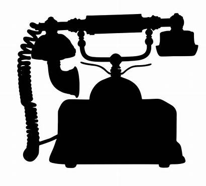 Clip Telephone Silhouette Clipart Antique Onlinelabels Svg