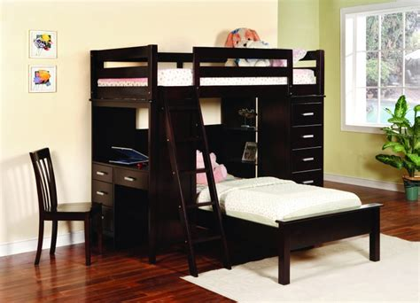 bed with built in desk save big on tahoe twin over twin loft bunk bed with built