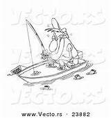 Fishing Boat Cartoon Coloring Sinking Man Vector Drunk Outline Suds Sink Royalty Anchor Designs Vecto Rs Boy Fish sketch template