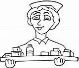 Coloring Medical Nurse Freecoloringpagefun sketch template