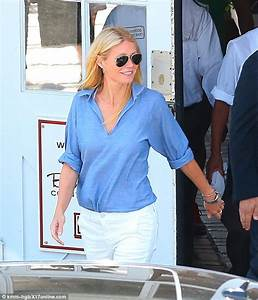 Make-up free Gwyneth Paltrow is summer chic in linen shirt ...