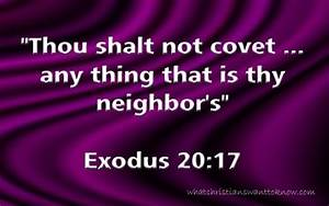 You Shall Not Covet: Bible Lesson and Life Application