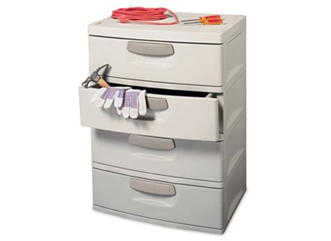 sterilite 01748501 heavy duty 4 drawer cabinet unit garage