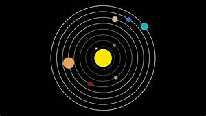 Simple Vector Illustration Style of the Solar System with ...