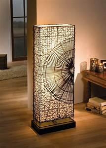 Stehlampe Mit Holzfuß : stehlampe mit segeltuch rattan stehleuchte braun schwerer holzfu ebay ~ Orissabook.com Haus und Dekorationen