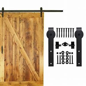With 16 ft barn door hardware