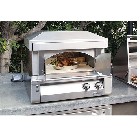 outdoor pizza oven cost alfresco 30 inch countertop propane gas outdoor pizza oven axe pza lp bbq guys