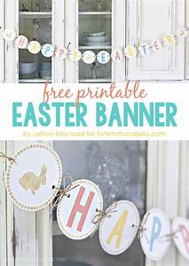 Free Printable Happy Easter Banner!!